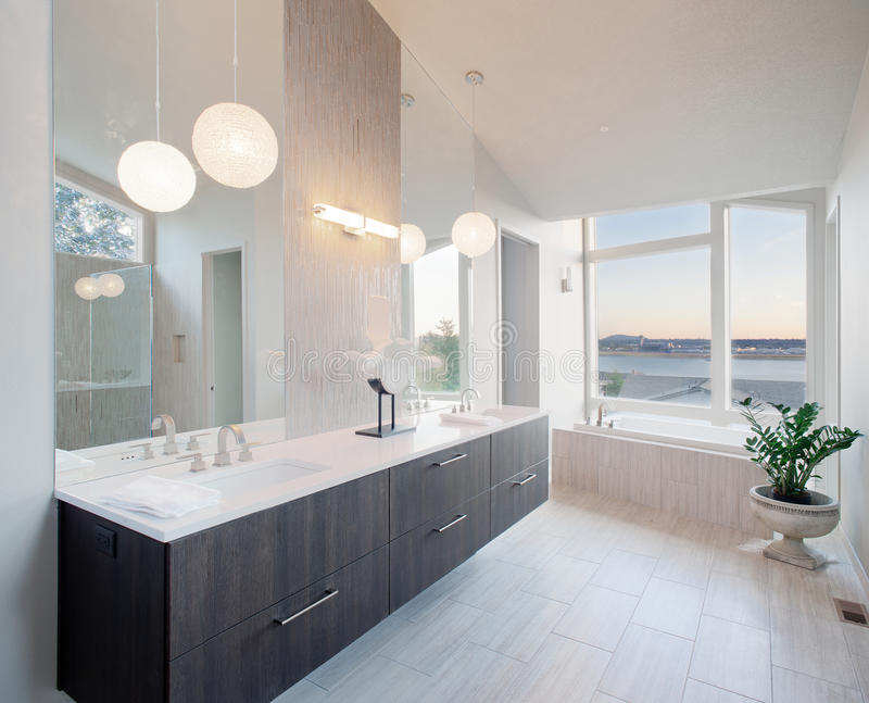 Download Luxury Bathroom stock photo. Image of hotel, designer - 27261022