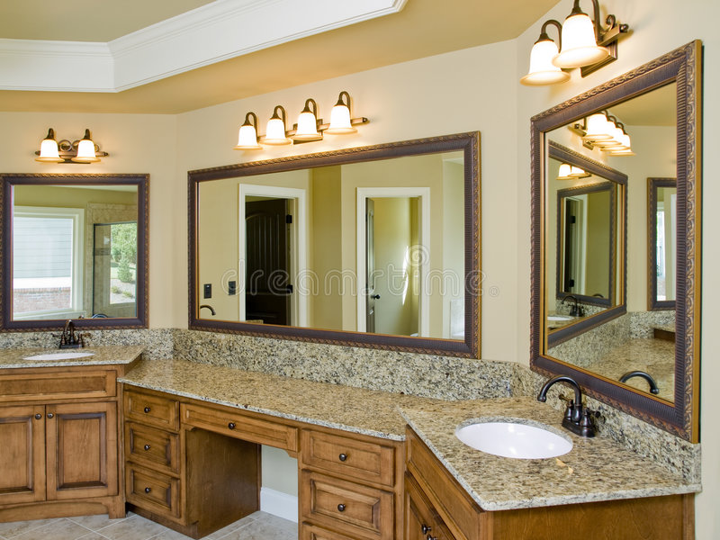 Luxury Bathroom double sink royalty free stock photo
