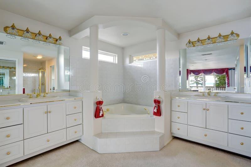 Luxury bathroom with large jacuzzi style tub stock photo - Fotos de jacuzzi ...