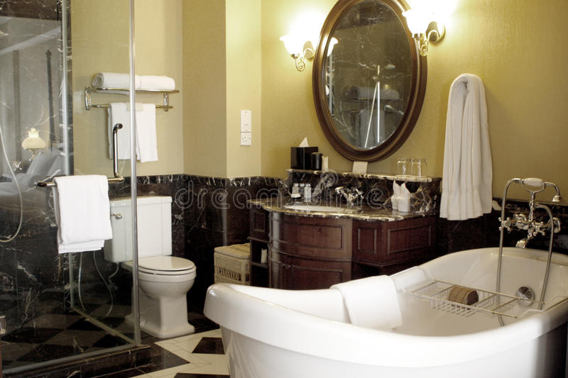 Luxury bathroom stock photos