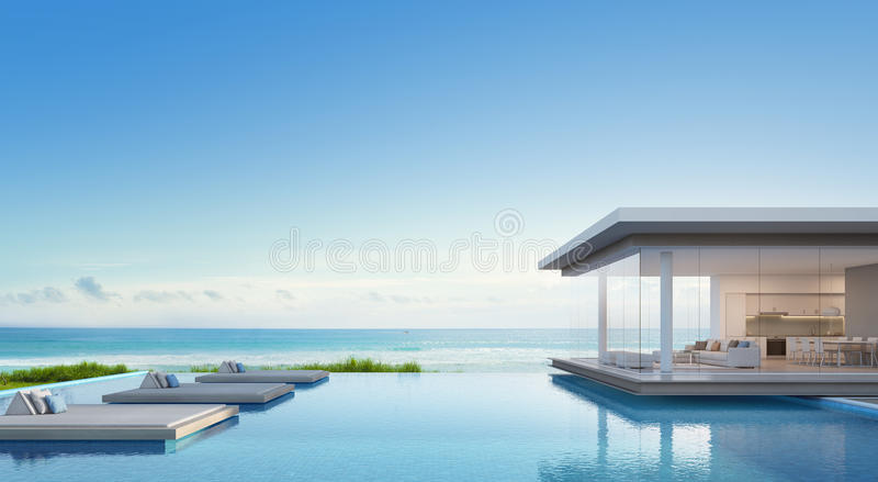 Download luxury beach house with sea view swimming pool in modern design vacation home for