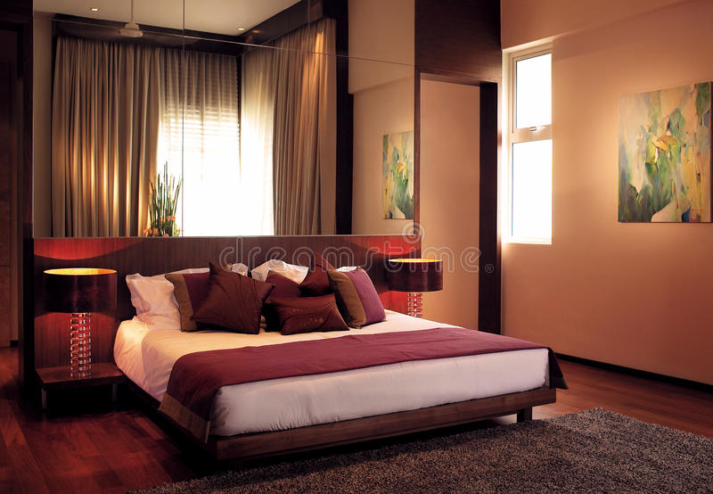 Luxury Bedroom. Interior of a luxury bedroom stock photo