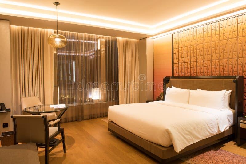 Luxury bedroom suite. With washroom stock photos