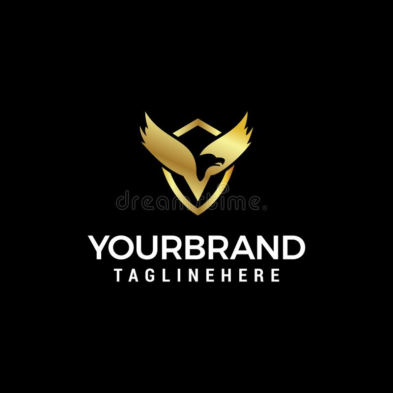Luxury bird wing logo design concept template vector illustration