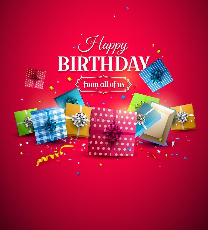 Luxury birthday template stock illustration