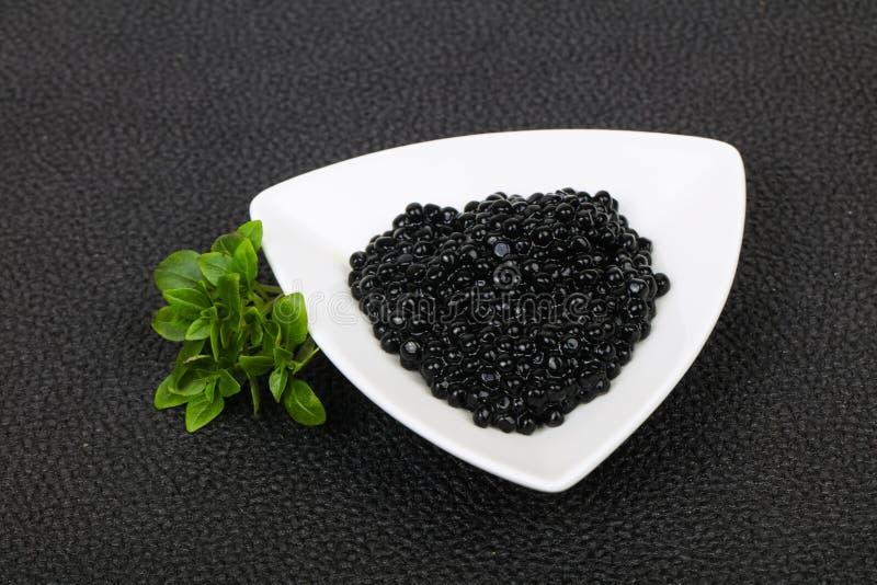 Luxury Black Caviar royalty free stock photos