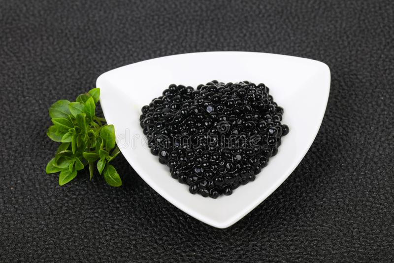 Luxury Black Caviar royalty free stock images