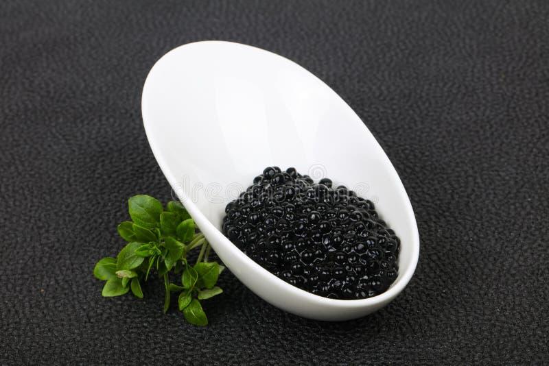 Luxury Black Caviar stock photography