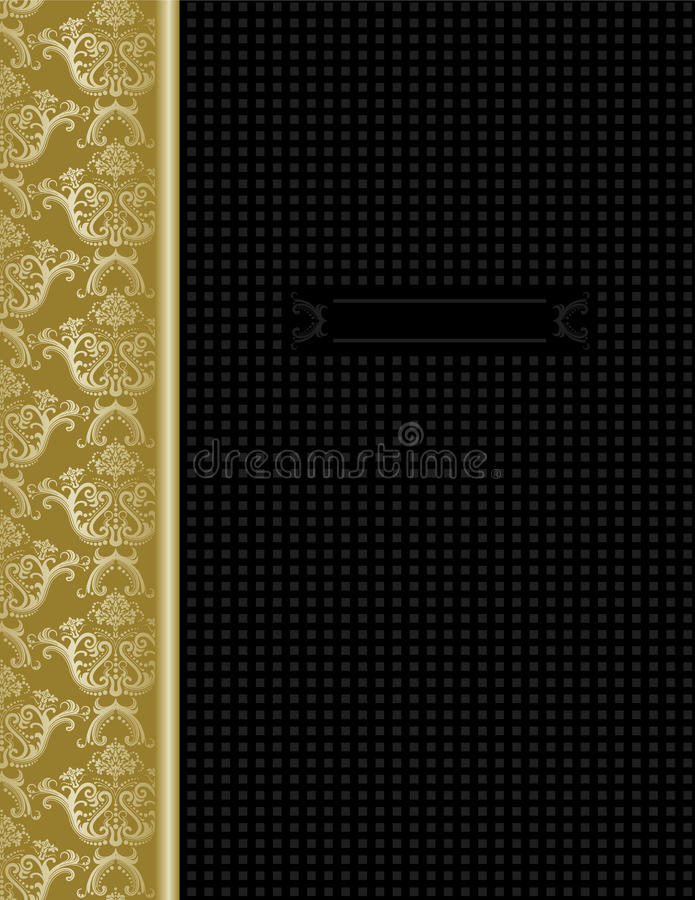 Download Luxury Black & Gold Cover Design Stock Vector - Image: 17608965