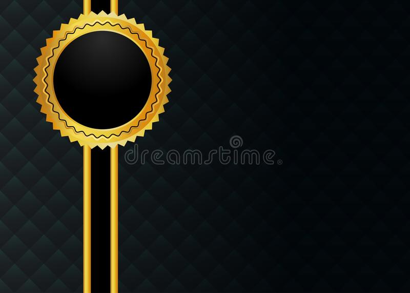 Luxury black and golden card royalty free illustration