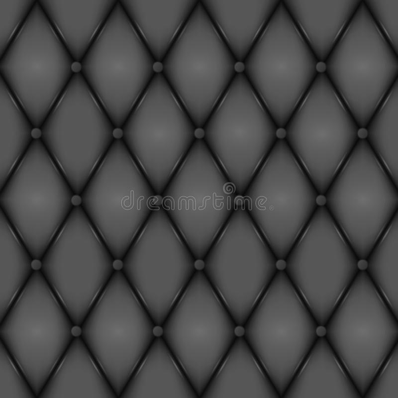 Luxury Black leather texture. Genuine leather pattern. Rhombus geometric background. Vector EPS 10 illustration format. Luxury Black leather texture. Genuine vector illustration