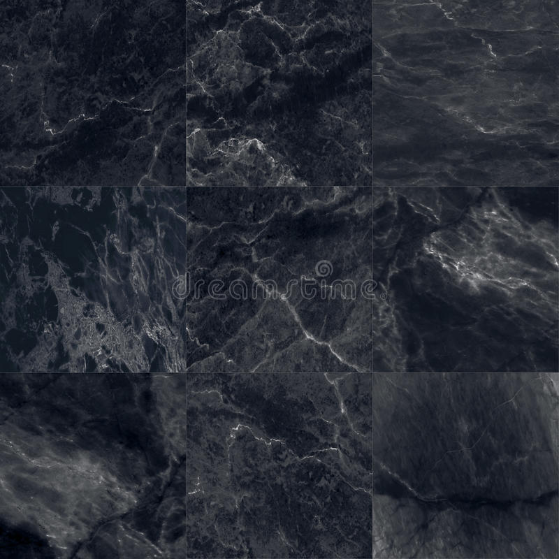 The Luxury Of Black Marble Tiles Texture And Background Stock Image