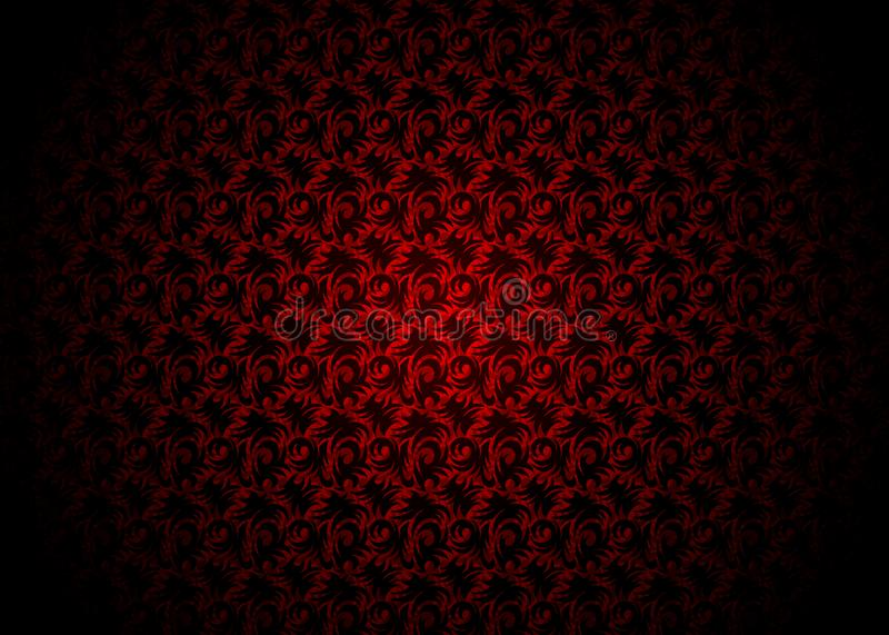 Download Luxury Black And Red Background Decorated Wallpaper In Style Retro Vintage Floral Elegant