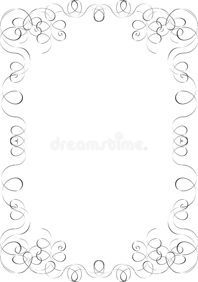 A luxury blank royalty free illustration