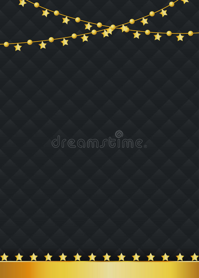 Luxury blank background with golden ornamental stars vector illustration