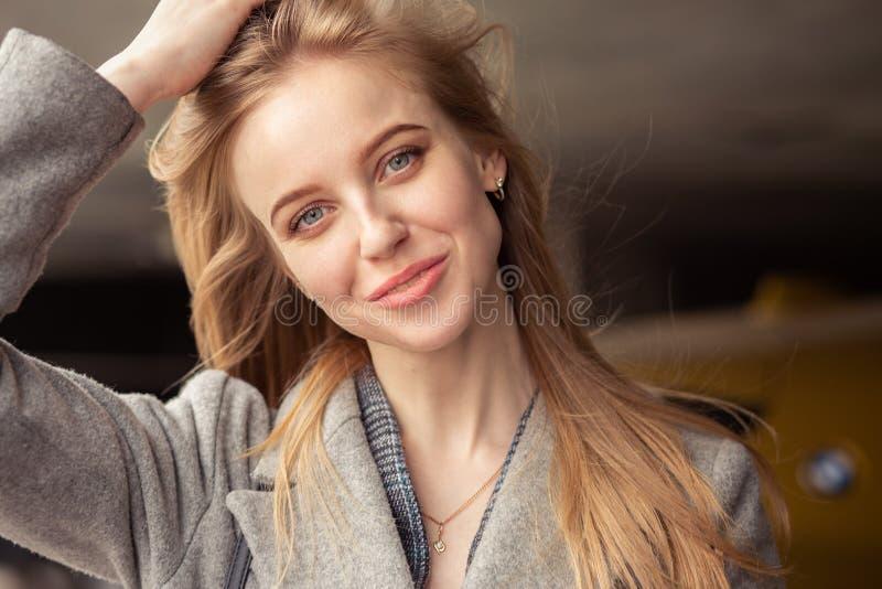 Luxury blond girl stock photos