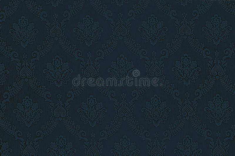Download Luxury Blue Floral Wallpaper Stock Illustration
