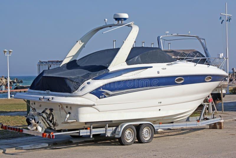 Luxury boat royalty free stock image