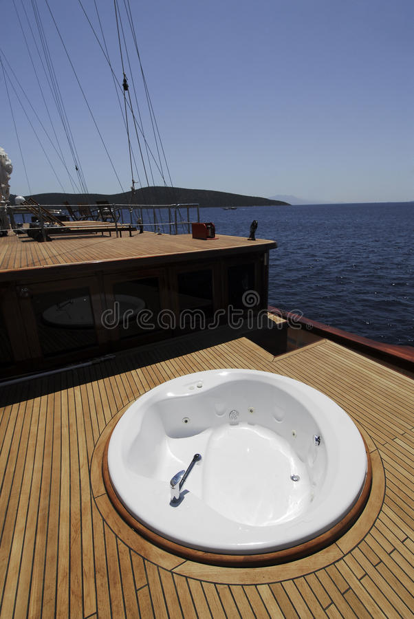 Download Luxury boat deck stock image. Image of blue, vacations - 9902521