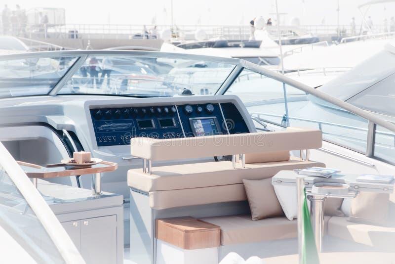 Luxury boat stock photos