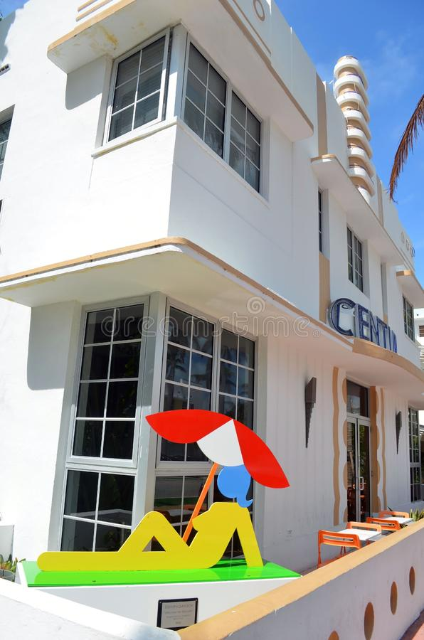 A Luxury Boutique Hotel on Ocean Drive royalty free stock images