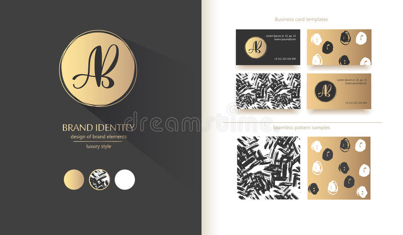 Luxury brand identity calligraphy ab letters sophisticated logo calligraphy ab letters sophisticated logo design couple business card colourmoves