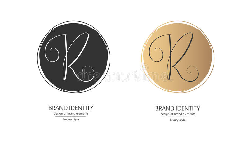 Download Luxury Brand Identity Calligraphy R Letter