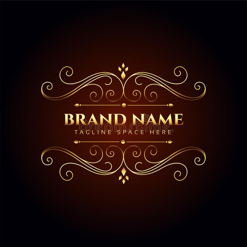 Premium Q Brand Design Vector: Golden Company Business Card Design Stock Vector