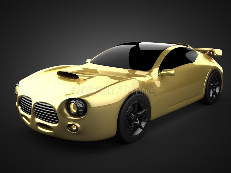 Luxury brandless sport car royalty free stock photo