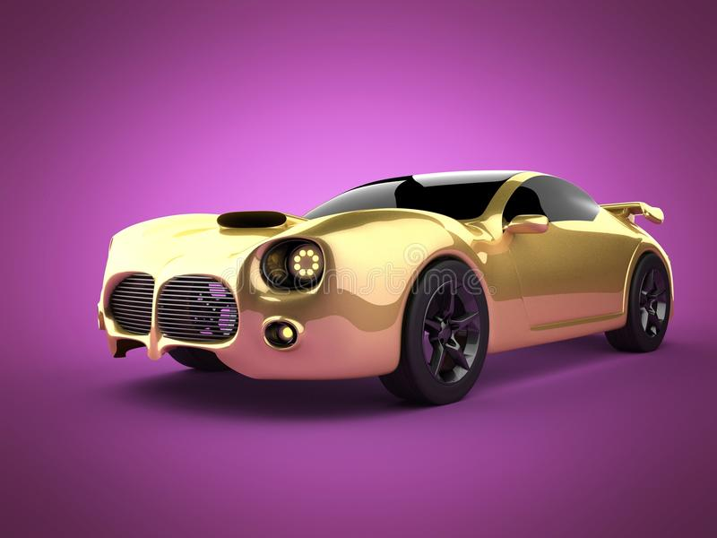 Luxury brandless sport car on pink background stock image