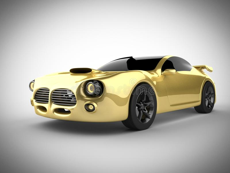 Luxury brandless sport car on white background stock photo