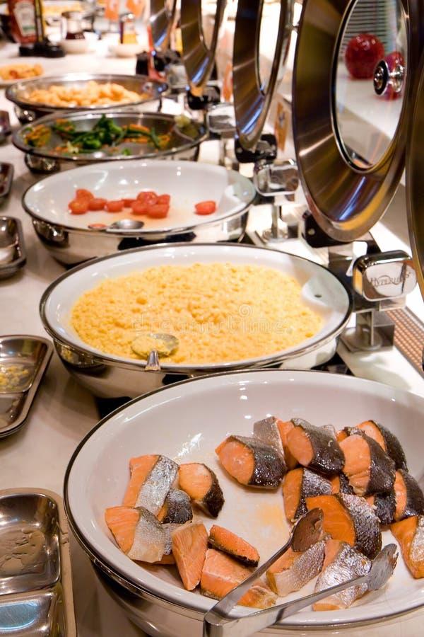 Luxury Buffet Breakfast. Breakfast Buffet line in luxury hotel royalty free stock image