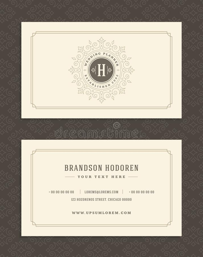 Luxury Business Card And Vintage Ornament Logo Vector Template ...