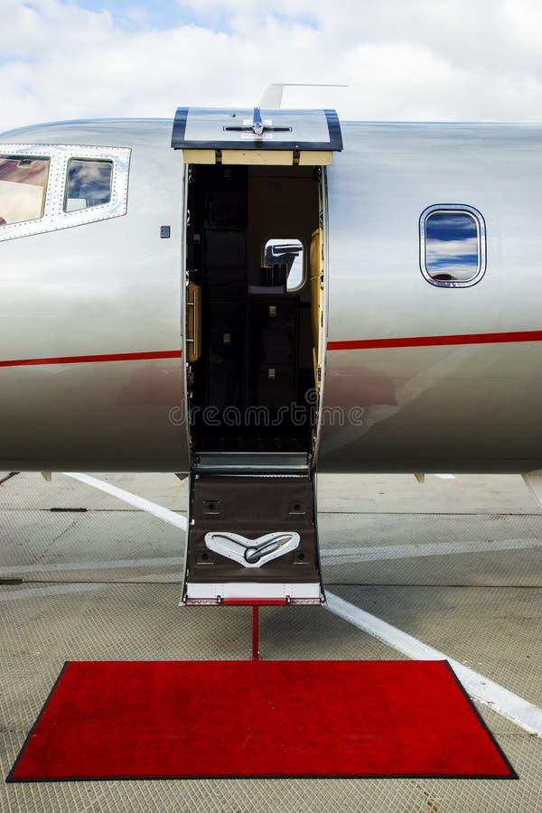 Vip Private View: VIP Private Jet Stock Image. Image Of Ladder, Board, Gray