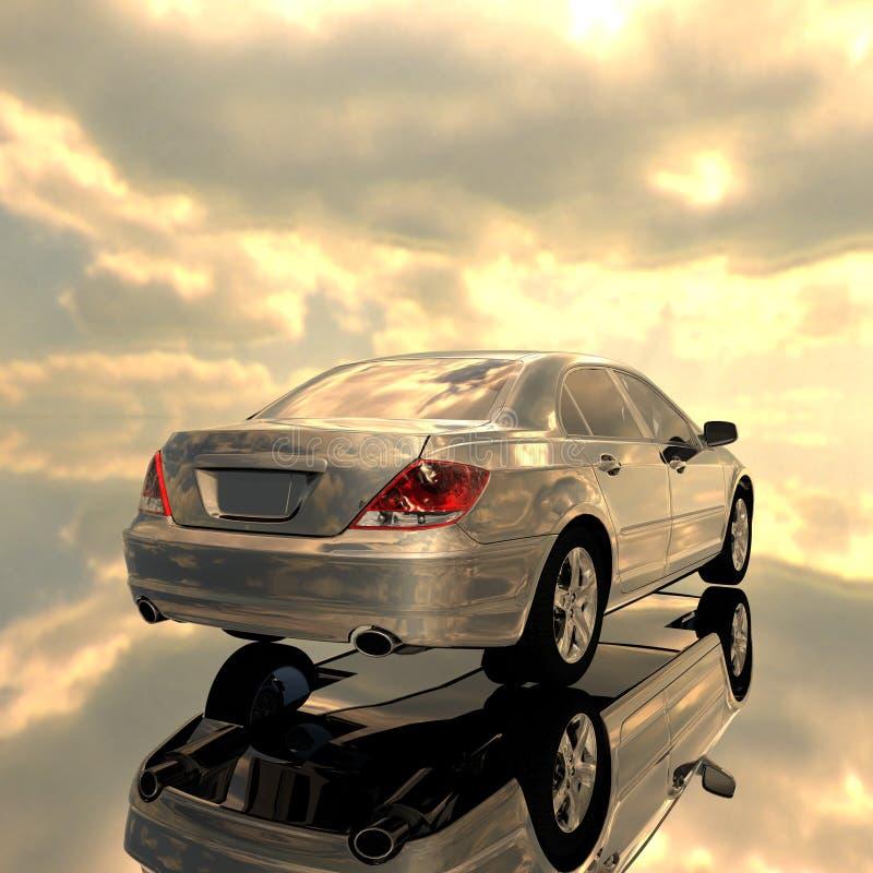 Luxury car royalty free illustration