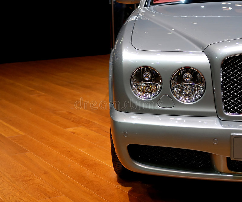 Luxury car detail stock photography