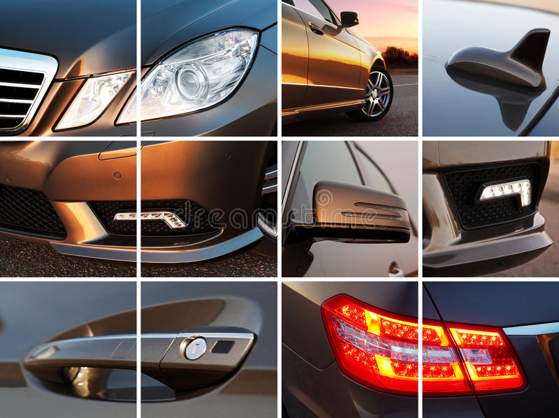 Luxury car exterior royalty free stock images