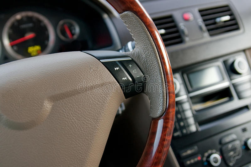 Luxury Car Interior Royalty Free Stock Photo