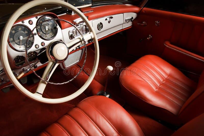 Luxury car interior stock image