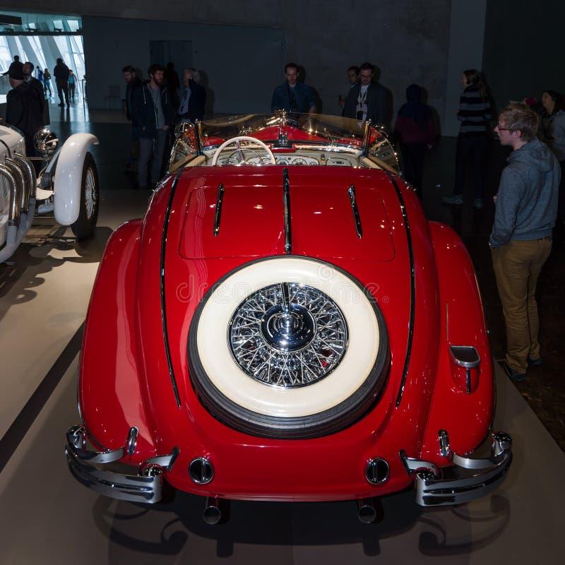 Luxury car Mercedes-Benz 500 K Special-Roadster (W29), 1937. STUTTGART, GERMANY- MARCH 19, 2016: Luxury car Mercedes-Benz 500 K Special-Roadster (W29), 1937 stock photography
