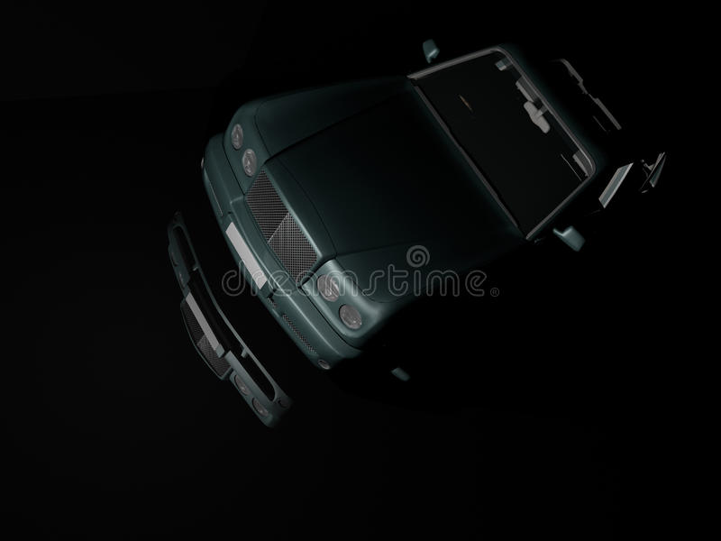 Download Luxury Car at Night stock illustration. Image of comfort - 10091007