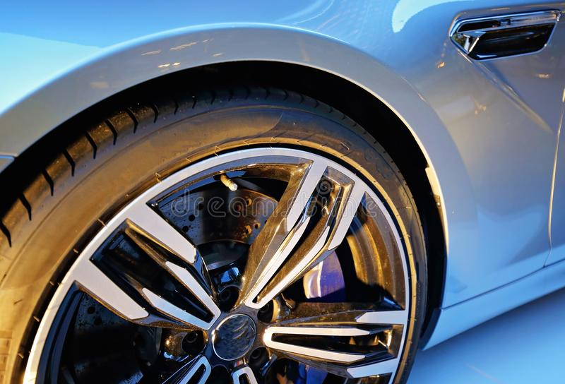 Luxury car show stock photography