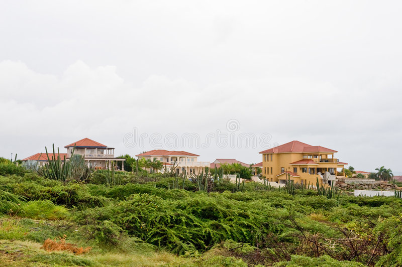 Luxury Caribbean Homes Royalty Free Stock Images