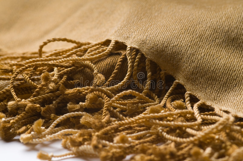 Luxury Cashmere Scarf With Fringe Royalty Free Stock Photography