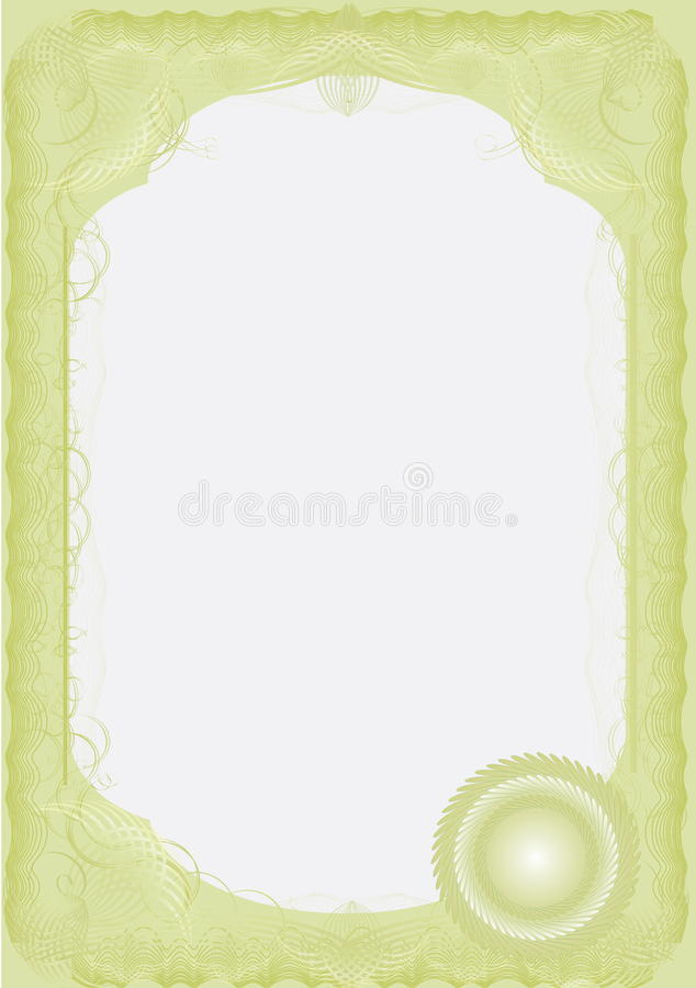 A Luxury certificate. Solid. Vector royalty free illustration