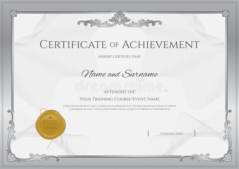 Luxury certificate template with elegant border frame diploma d download luxury certificate template with elegant border frame diploma d stock vector illustration yelopaper Image collections