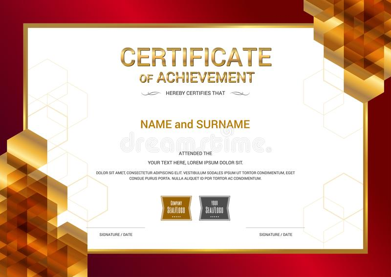 Download Luxury Certificate Template With Elegant Border Frame, Diploma D Stock Vector - Illustration of background, gift: 107670018