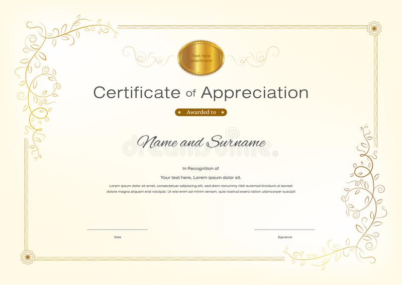 Luxury certificate template with elegant border frame diploma d download luxury certificate template with elegant border frame diploma d stock vector illustration of yelopaper Image collections