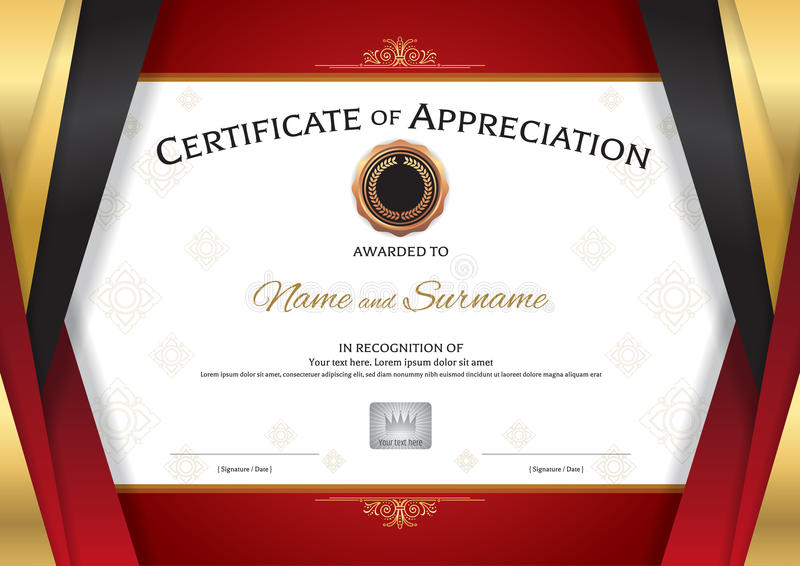 Luxury certificate template with elegant golden red border frame download luxury certificate template with elegant golden red border frame stock vector illustration of antique yadclub Choice Image