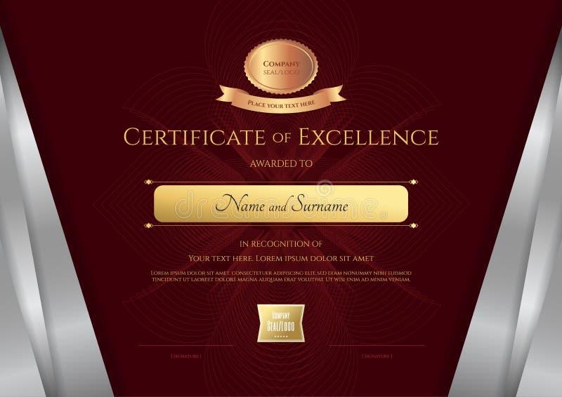 Elegant Marriage Certificate Template Golden Edition: Luxury Certificate Template With Elegant Silver Border